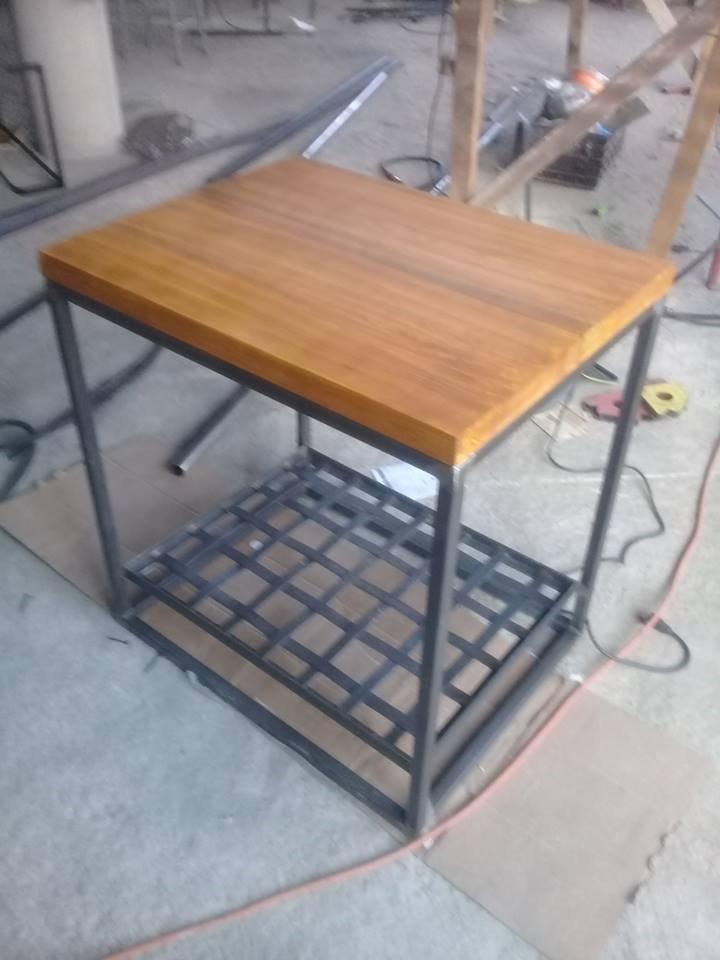 Isla Para Cocina Metal-madera - $ 4,100.00 en Mercado Libre