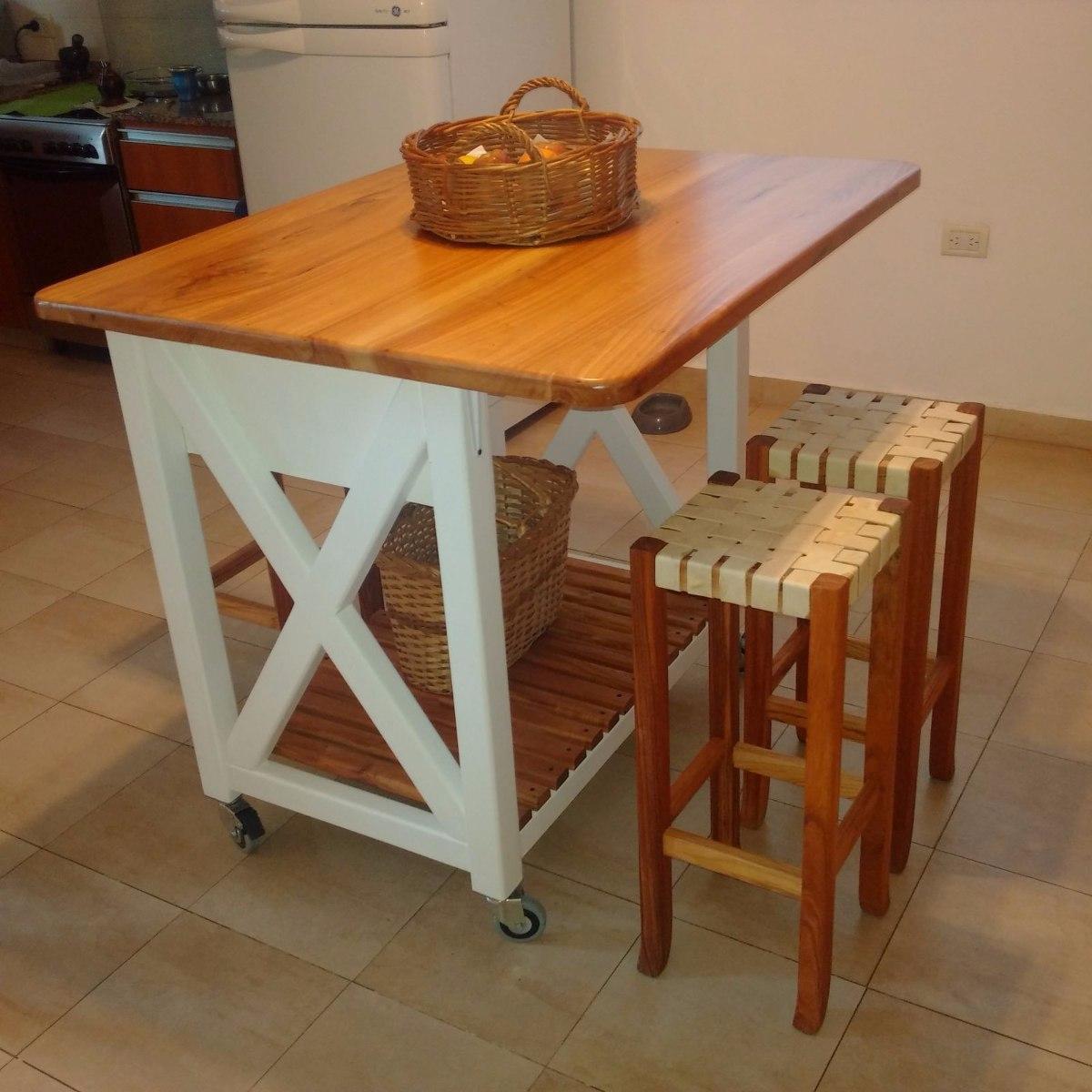 Isla Para Cocinas - Barra Desayunador Artesanal - $ 17.485,34 en ...