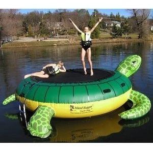 isla trampolin aquatico inflable la tortuga lagos piscinas