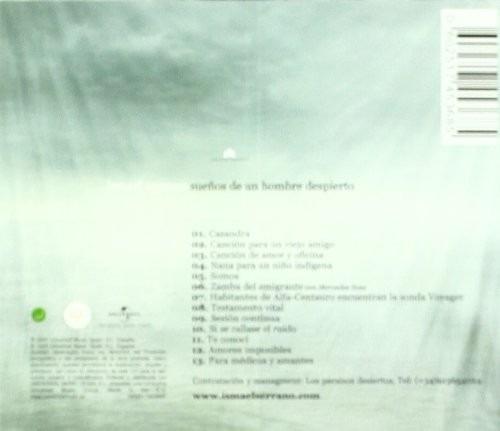 ismael serrano sueños de un hombre despierto cd nuevo orig.