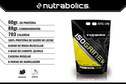 iso gainer nutrabolics ganador de masa muscular/limpio