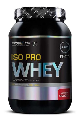 iso pro whey 900g - whey isolado probiótica promoção