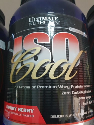 ad091d7ad Isocool Whey Ultimate Nutrition 900g. Isolado Sabor Cereja - R  189 ...