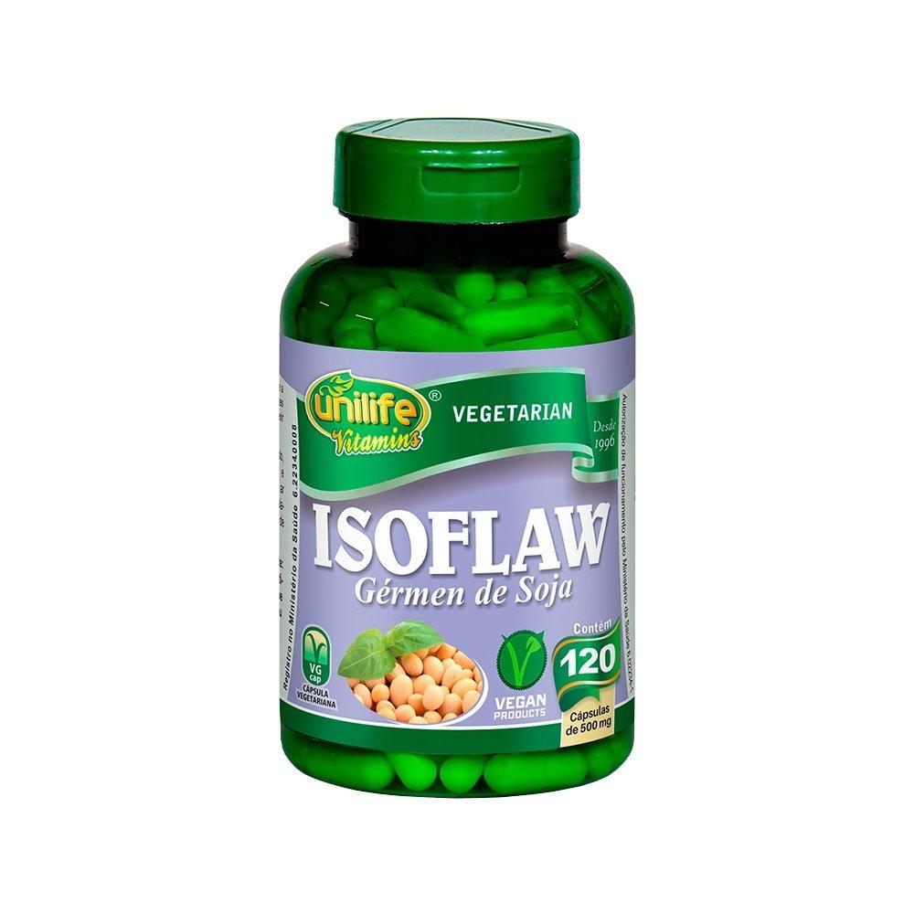 Isoflaw Isoflavona Gérmen De Soja 120 Cápsulas 500mg Unilife