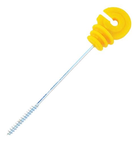 isolador cerca elétrica gancho afastador amarelo 19 cm c/50