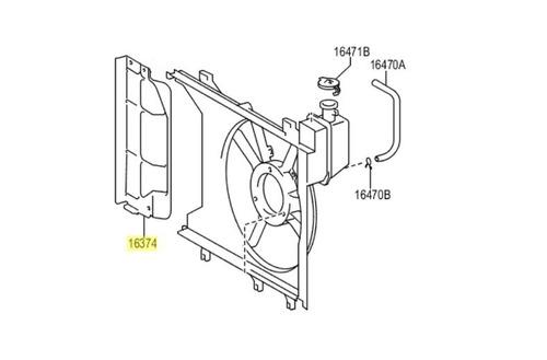 isolador do ventilador do motor de arrefecimento do etios