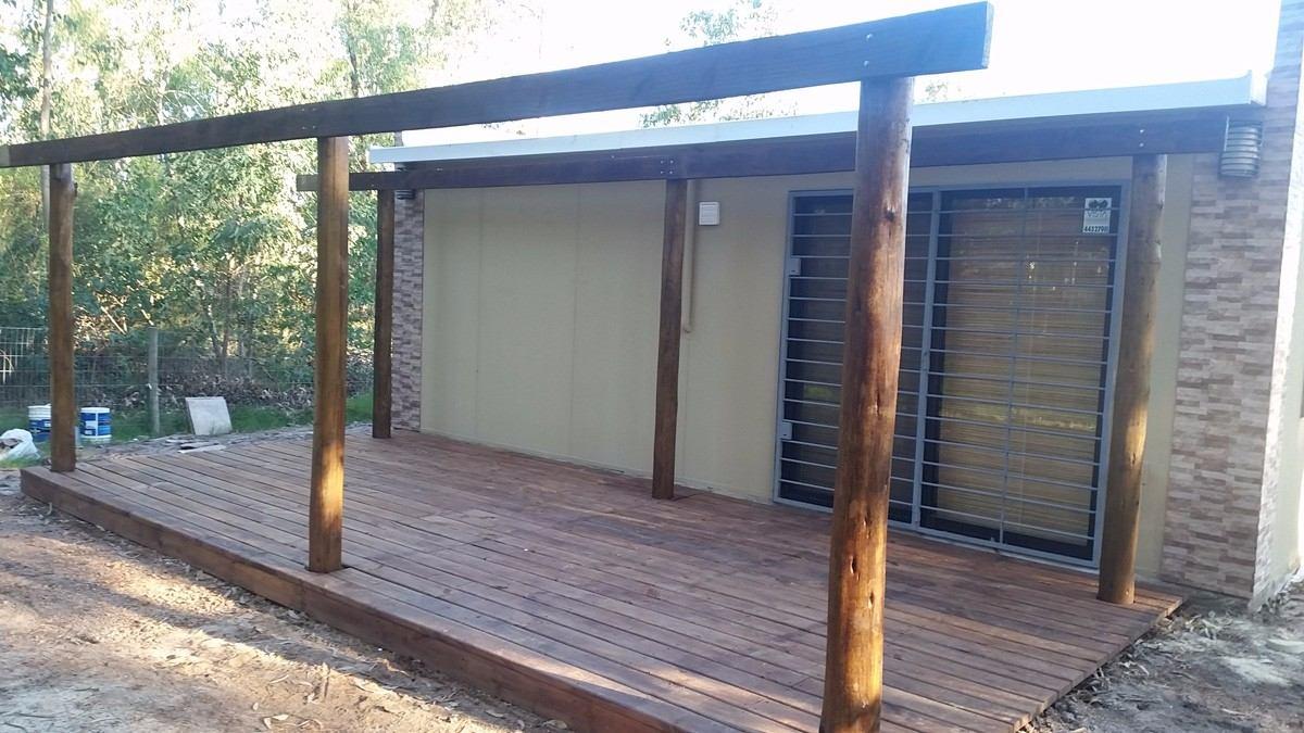 Isopanel colocaciones de techos en barbacoas casas garaje - Garajes de metal ...