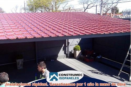 isopaneles techos paredes isodec chapas construccion liviana