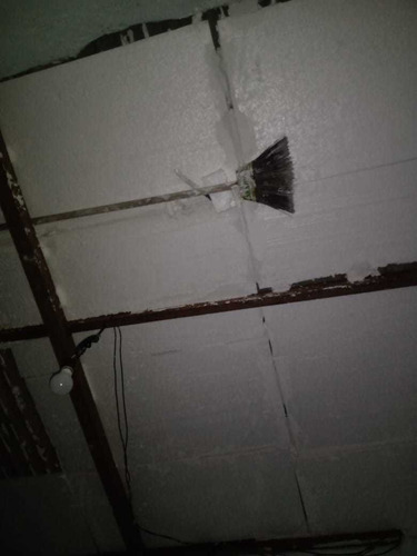 isopor  no telhado/tijolo  elimina embolso e calor