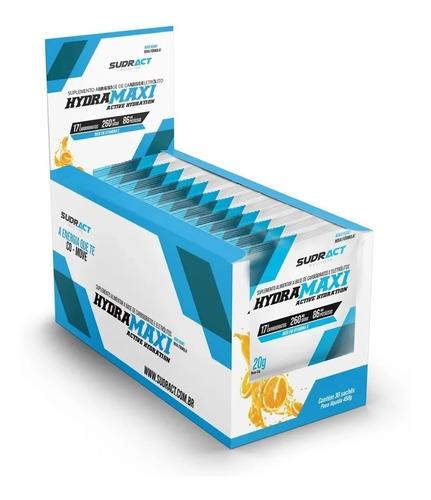isotônico hydramaxi sudract caixa com 25 sachês 20g laranja