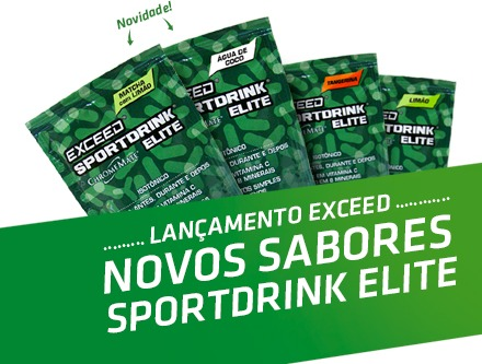766a63157 Isotonico Exceed Sportdrink Sabores C 7 Sachês 35g - R  223