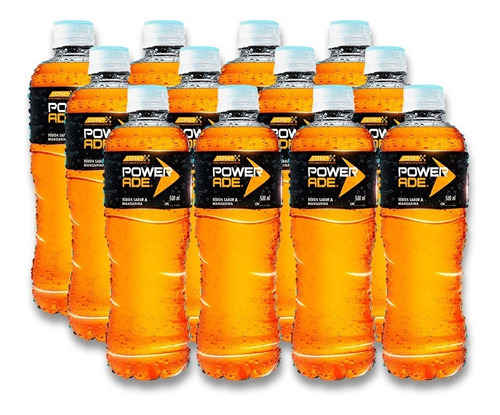 isotónico powerade mandarina pet 500ml 12 unidades.