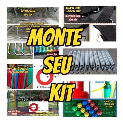 isotubo blindado fantasia  p/ cama elastica kit com 10