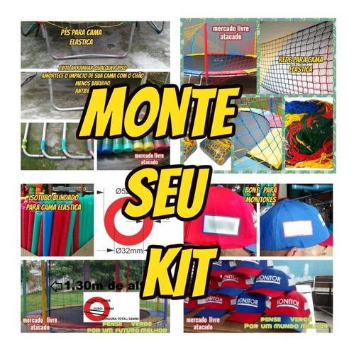 isotubo blindado fantasia  p/ cama elastica kit com 20