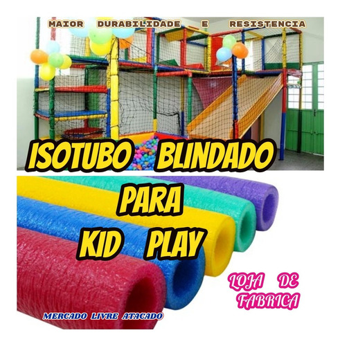 isotubo blindado para kid play oferta de fabrica kit c/15mts