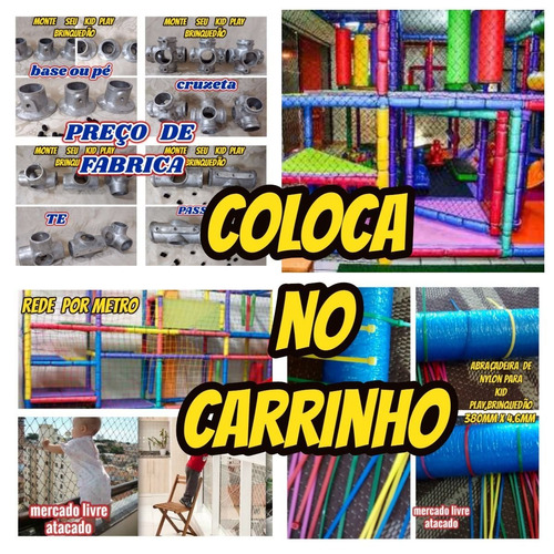 isotubo blindado p/kid play oferta de fabrica kit c/20mts