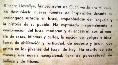 israel, mi amor richard llewellyn editorial emecé argentina