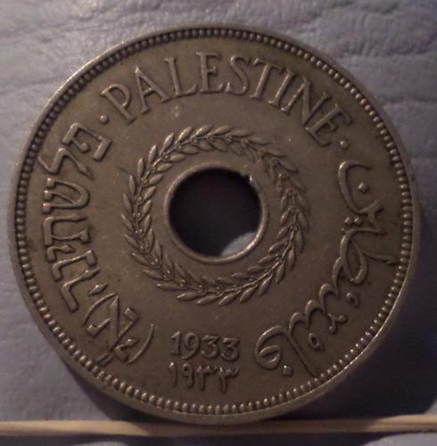 israel palestina 20 mils 1933 rara  exc