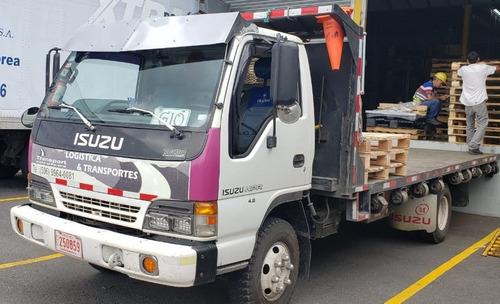 isuzu npr 2000, 4.8 / recibo pic up doble tracción y cabina