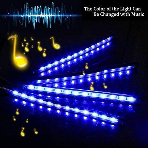 Isyoung car led strip lights 4 pcs 48 led multicolor musi isyoung car led strip lights 4 pcs 48 led multicolor musi aloadofball Images