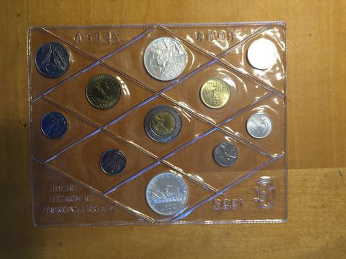 ita-s17 set 11 monedas italia 1992 unc-bu plata ayff