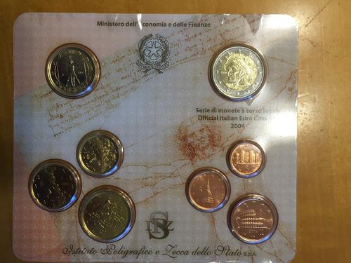 ita-s22 set 8 monedas italia 2004 euros unc-bu ayff