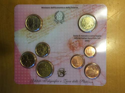 ita-s23 set 8 monedas italia 2005 euros unc-bu ayff