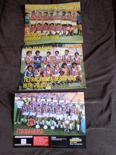 itabaiana coleção 3 posters campeão sergipe aracaju placar