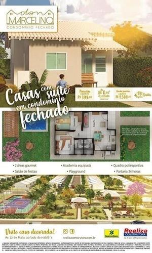 itaborai - condominio dom marcelino casa 2 quartos suite - ca00050 - 32959850