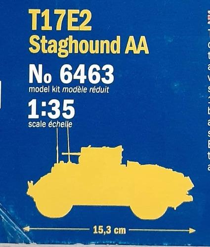 italeri 1/35 6463 t17e2 staghound aa