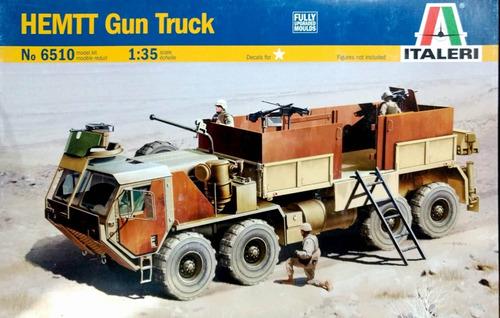 italeri 1/35 6510 camion hemtt gun truck
