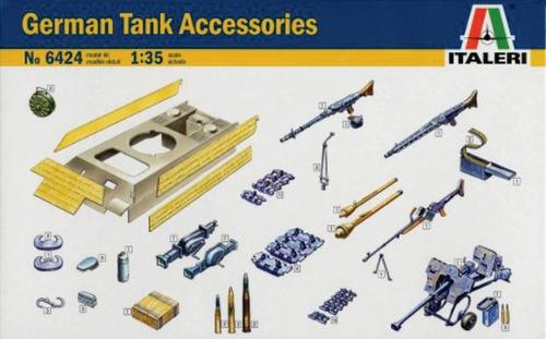 italeri accesorios para tanque aleman 1/35 armar pintar