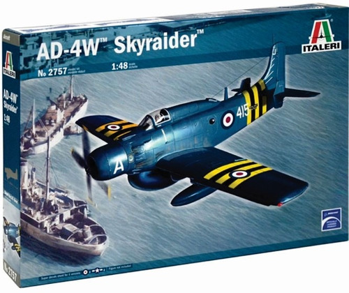 italeri avion ad-4w skyraider 1/48 armar pintar/ no revell
