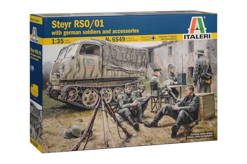 Italeri - Steyr Rso/01 W/german Soldiers & Accessories 1/35