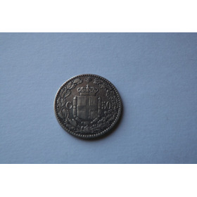 Italia- 50 Centesimi De Prata 1889- Rarissima- Unica No M.l