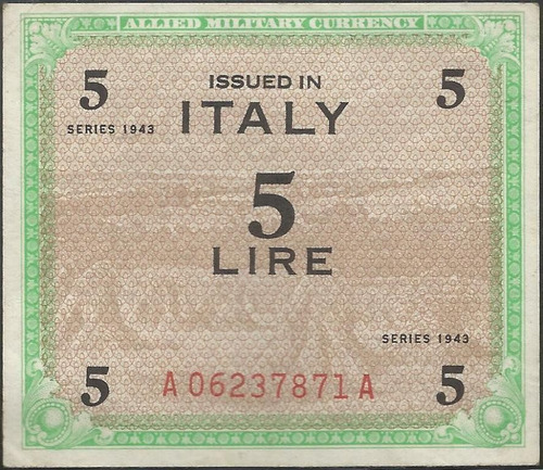 italia 5 liras 1943 pm12b