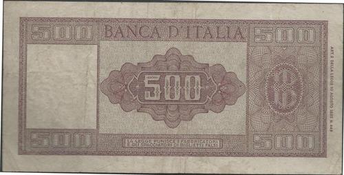 italia 500 liras 23 mar 1961 p80b