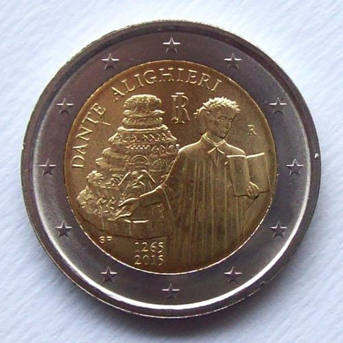 italia - moneda 2 euros 2015 conm. dante alighieri ¡ s/circ!
