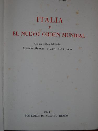 italia y el nuevo orden mundial - luigi sturzo