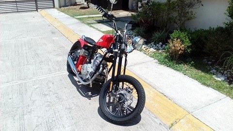 italika bobber 250 - color rojo - mod. 2010