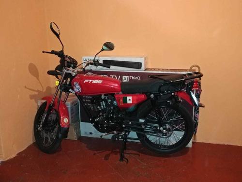 italika ft125 negra con rojo