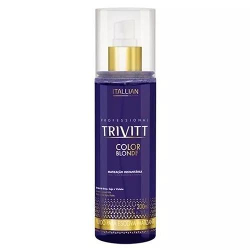 itallian trivitt color blonde fluído escova matizante 250ml