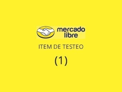 item de testeo, por favor no ofertar