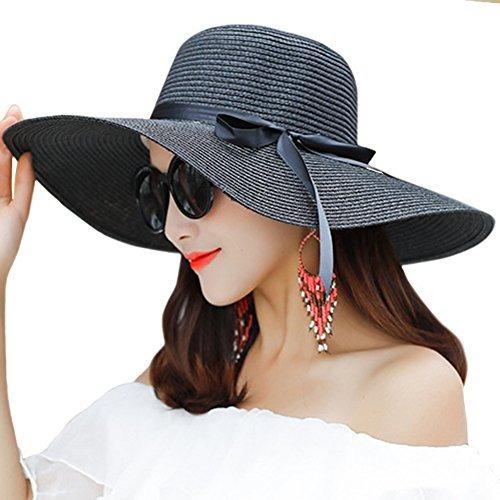 Itopfox Sombrero De Ala Grande Para Mujer Sombrero De Paj... -   108.900 en Mercado  Libre 43c75b81d4b