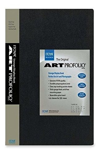 itoya art profolio 8 1/2 x 11 almacenamiento / display book
