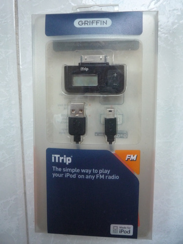 itrip adaptador radio fm ipod griffin usb nuevo