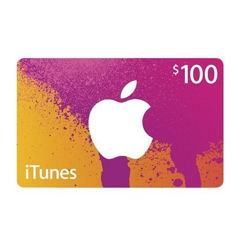 itunes 100 usd giftcard tarjeta regalo appstore