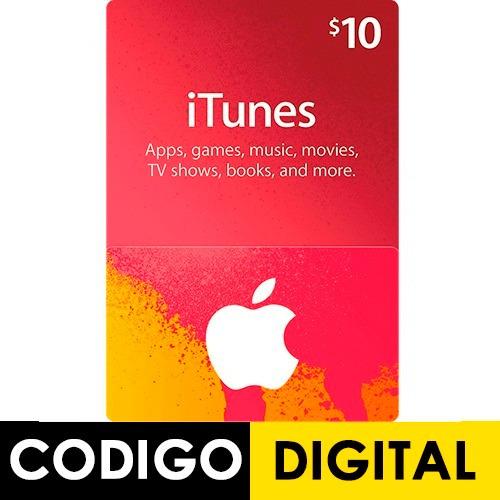 itunes apple card $10 para ipod iphone