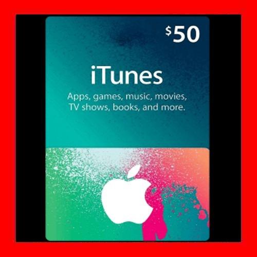 itunes apple card $50 para ipod iphone