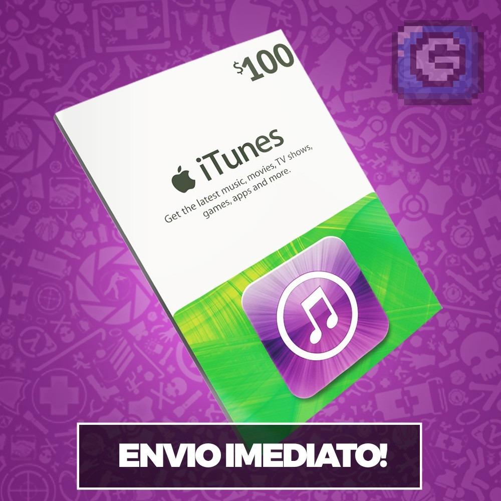 Itunes Gift Card 100 Dlares Usa Ipod Iphone Ipad Imac R 413 Us Carregando Zoom